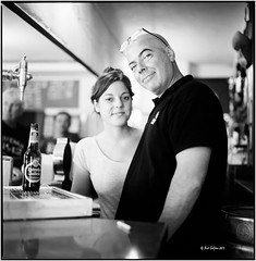 Claudio and his daughter_Pollenca_Hasselblad (ksadjina) Tags: 6x6 film analog blackwhite spain scan claudio mallorca pollenca hasselblad500cm silverfast 10min baralhambra adoxaph09 nikonsupercoolscan9000ed