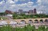 Stone Arch Bridge (jpellgen (@1179_jp)) Tags: summer usa minnesota june america nikon midwest theater downtown minneapolis mpls mississippiriver nikkor mn guthrie 2014 stonearchbridge endlessbridge milldistrict