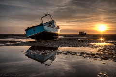 Meols beach (Paul-Farrell) Tags: sunset beach canon reflections boats sand sigma 1020mm wirral merseyside irishsea meols 70d