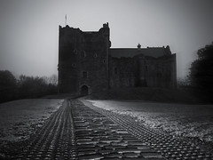THROUGH THE PAST DARKLY (kenny barker) Tags: bw castle monochrome scotland doune dounecastle kennybarker