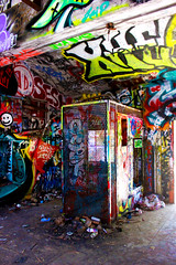 Caged (CaledoniaEHanson) Tags: california ranch santa camp abandoned graffiti nazi cage monica murphys