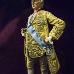 A multimedia sculpture of King Louis XV wearing the diamond-studded Order of the Golden Fleece  George Stuart 20th century CE thumbnail