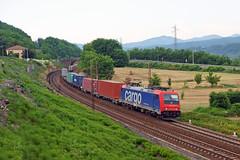 SBB Cargo E484 017SR (Transport Pictures) Tags: railroad italy train rail railway cargo tc locomotive treno ferrovia locomotiva sbbcargo fuorimuro