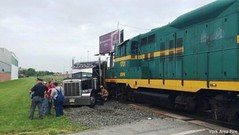 Train, truck collide in Springettsbury Township, PA (dfirecop) Tags: york train truck crash accident pennsylvania pa wreck tractortrailer dfirecop