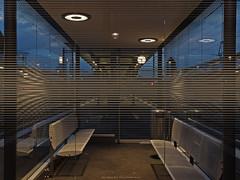 21:29 (scubaluna) Tags: longexposure sky glass lines clouds schweiz switzerland nightshot illumination bahnhof transparent glas uhr gleis sitzbank linien bahnhofsuhr uhrzeit giswil olympusesystem wartehaus scubalunaphotography