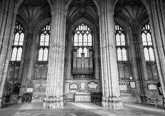 Pillar Of Strength (stevebakerphotography) Tags: church photoshop canon blackwhite cathedral religion canterbury pillars lightroom kpc ddcc 5dmk3 stevebakerphotography