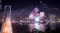 DSC_0288-1 (thegentledon) Tags: sanfrancisco california fireworks thecity baybridge newyears i80 2014 yerbabuenaisland 2013 newyearseve2013 newyearsday2014
