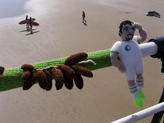 Knitted World Cup 2014 Algeria (Nekoglyph) Tags: brazil white green beach beard algeria pier football seaside teams player surfers surfboards knitted dates figures saltburn worldcup2014 yarnbombing lesfennecs yarnstormers