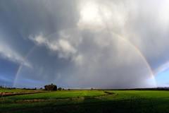 Rainbow () Tags: sky clouds landscape photography photo rainbow nuvole foto photographer rice photos country full campagna cielo fields fotografia arcobaleno paesaggio stefano fotografo trucco risaie zush stefanotrucco