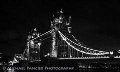 Tower Bridge at Night B&W (Michael Pancier Photography) Tags: uk greatbritain travel vacation england london towerbridge unitedkingdom gb thamesriver northbank travelphotography nighttimephotography commercialphotography naturephotographer michaelpancierphotography towerbridgeatnight landscapephotographer fineartphotographer michaelapancier wwwmichaelpancierphotographycom summer2014