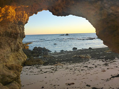 Lourenco Beach (kezery) Tags: blue sunset sea sky praia beach rock sand arch stones gale lourenco