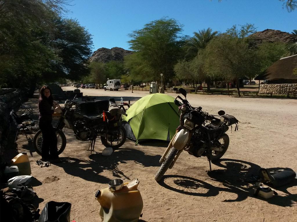 Working On The Suzuki's DR, Ai-Alis, Nambia