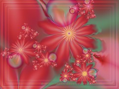 Surreal Red Goldahlia Floral (Rosemarie.s.w) Tags: flowers red floral digitalart surreal fractal ultrafractal fractalsgrp uf5 goldahlia ultrafractal5