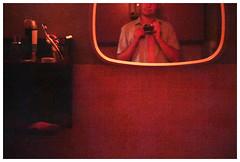 *** (Spartaxus) Tags: red selfportrait analog self mirror rossman