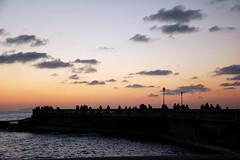 Il sussurro delle sagome (encantadissima) Tags: tramonto nuvole cielo toscana livorno sagome