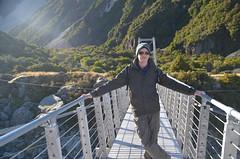 Christophe sur le pont suspendu