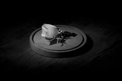Spot-lit White Rose (JoshuaCampbell1991) Tags: tlr film fog mediumformat smoke pipe steam canonae1 tobacco whiterose cigarbox studiolighting twinlensreflex mamiyac330 macanudo springfieldmo professionallighting pipetool