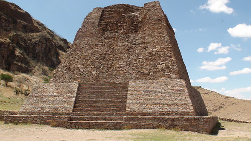 Pyramid in Zacatecas Mexico