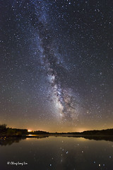 Milky Way, Lake Sugema, Keosauqua, IA [1629] (cl.lin) Tags: longexposure lake nikon midwest iowa nightsky milkyway 1424mm lakesugema
