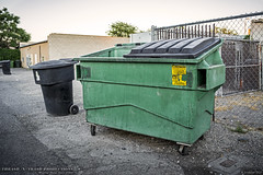 Basin Disposal, Inc. (Thrash 'N' Trash Prodcutions) Tags: lighting sunset metal trash dumpster america washington garbage alley downtown industrial dusk dump disposal basin container wa dumpsters waste refuse recycle recycling containers sanitation alleys pasco alleyways