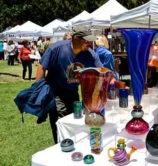 examining the glass (David McSpadden) Tags: art glass festival ceramics center clay palo alto