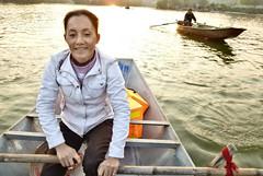 170 Yen river (farfalleetrincee) Tags: travel sunset people tourism nature river landscape boat asia southeastasia waves vietnam adventure guide indochina yenriver