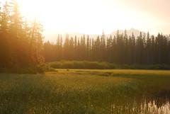 Banff awakens (gvalcourt) Tags: sun lake canada mountains sunrise ab alberta banff