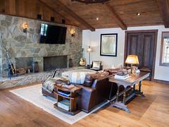 (deanmackayphoto) Tags: door wood light lamp stone table chair fireplace floor guitar ceiling livingroom couch sofa end renovation decor fixture interiordesign hardwood