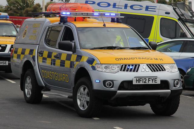 show coastguard truck day offroad 4x4 4wd pickup her event eastbourne vehicle leds hm l200 mitsubishi patrol grilles hmc unit 999 2014 lightbar majestys fendoffs hf12fye