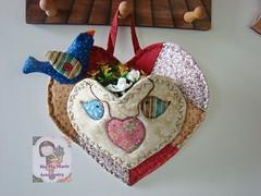 Coração...enfeite.... (Ma Ma Marie Artcountry) Tags: country portatreco panô