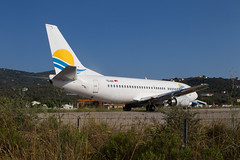 An Aviolet Boeing 737 at Skiathos (Martyn Cartledge / www.aspphotography.net) Tags: uk plane airplane greek fly flying airport europe aircraft aviation air transport flight jet aeroplane greece airline boeing runway skiathos airliner 737 martyn aerodrome b737 jsi aviolet cartledge yuani civilairliner civilairline aspphotography skiathios wwwaspphotographynet