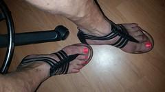 20140704_153506[1] (2moshoes) Tags: gladiator sandals nail polish man men