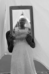 My sister, my self (thanigosky) Tags: africa blackandwhite woman reflection mirror nikon african documentary ghana