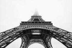Eiffel Tower (Yann Fauchier urban & portrait photography.) Tags: eiffel tower paris black white architecture fog fuji fujifilm