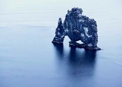 Hvitserkur.  Vestur Hunavatnssysla Iceland. (unnurol) Tags: oceanhvitserkurhúnavatnssyslaicelandoutdoorbluewhiterock