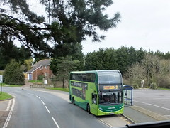 Southern Vectis 1580 - HW63 FHB coming into Brading viewed from the upper deck of 1588. (rkanscombe) Tags: southern vectis 1580 hw63 fhb