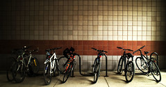 Which side are you? (leejustina) Tags: efm1855mmf3556isstm bicycle different six dark bright bike canoneosm3 iowa canon iowacity usa