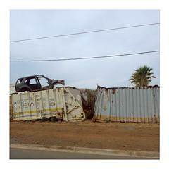 Broken Car (ngbrx) Tags: capvert cabo verde kapverdische inseln kapverden santiago praia car auto trailer container africa afrika