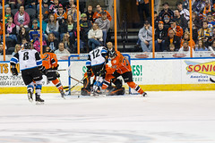 "Missouri Mavericks vs. Wichita Thunder, March 25, 2017, Silverstein Eye Centers Arena, Independence, Missouri.  Photo: © John Howe / Howe Creative Photography, all rights reserved 2017. • <a style=""font-size:0.8em;"" href=""http://www.flickr.com/photos/134016632@N02/32858159534/"" target=""_blank"">View on Flickr</a>"