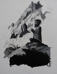Méditation 35X27 cm Huile