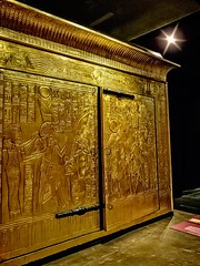King Tutankhamun's gold burial shrine that contained his sarcophagus with three nested coffins New Kingdom 18th Dynasty Egypt 1332-1323 BCE (3) (mharrsch) Tags: king pharaoh tutankhamun newkingdom 18thdynasty egypt 14thcenturybce ancient gold shrine gravegoods funeraryart tomb