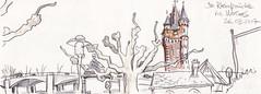 Worms Rheinbrücke © Detlef Surrey (Detlef Surrey) Tags: urbansketches urbansketchers uskgermany church sketch sketchbook carnetdevoyage detlefsurrey bridge rhine rhein rheinbrücke