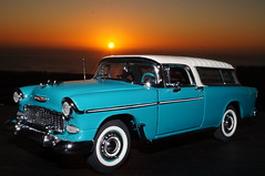 1955 Chevy Nomad diecast 1:24 made by Danbury Mint (rigavimon) Tags: diecast miniaturas 124 chevrolet nomad 1955 antofagasta danburymint atardecer sunset