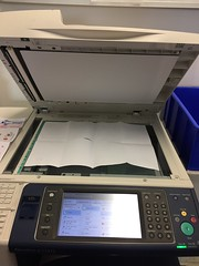 Photocopying the completed books