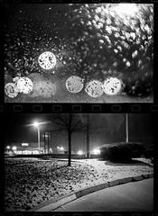 Racking (mkberquist) Tags: 1stoppush 35mm 35mmf14ai diafine film hp5 nikonf3 phoenix arizona snow parkinglot bokeh