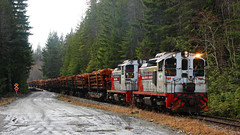 WFP 304 ~ Nimpkish Valley (Chris City) Tags: train railway railroad shortline logging forestry industry wfp canfor sw1200rs vancouverisland nimpkishvalley woss