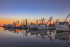 _40A6668 (ChefeGrande) Tags: texas fulton marina landscape seashore sunset serene seaside sea water shrimpboats reflection outdoor coastal silhouette gulfofmexico aransasbay