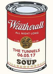 SOUP presents Andrew Weatherall (Christopher Mann.) Tags: aberdeen dj tunnels andrew weatherall andrewweatherall soup soupaberdeen tunnelsaberdeen andy warhol andywarhol soupcan can warholsoup warholcan illustration campbells allnightlong graphic design graphicdesign illustrationdesign tomato reflection tincan souptin