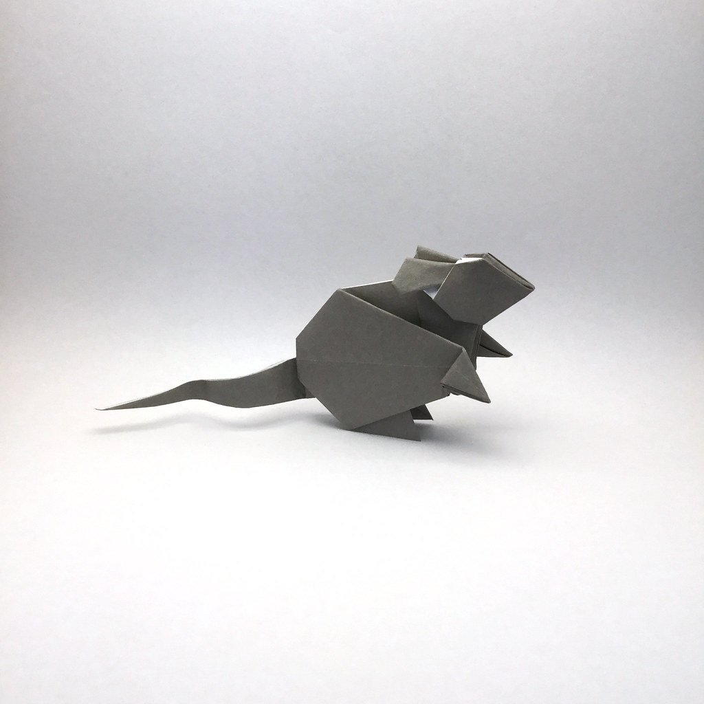 The worlds best photos of origami and rat flickr hive mind origami rat orimin tags origami paper papercraft craft handmade art animal mammal rat jeuxipadfo Images