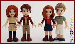 """Doctor Who """"The Pond Family"""" (brickomotion) Tags: bom brickomotion minidoll mini doll dollify doctor who lego custom river song 11th amy pond rory williams"""